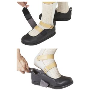 介護靴 RE-003(4E) 1704 / 4L 黒 右足 h02