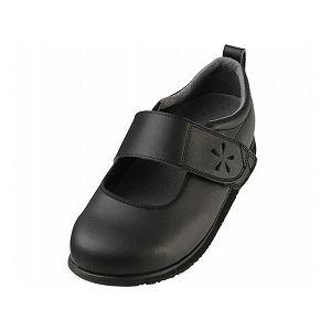 介護靴 RE-004(6E) 1705 / L 黒 左足 f06