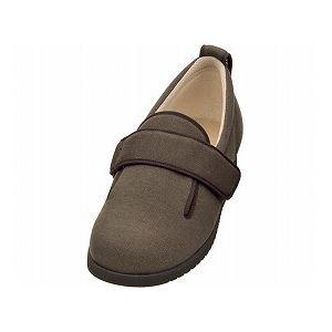 介護靴 施設・院内用 ダブルマジック2 11E(ワイドサイズ) 7029 両足 徳武産業 あゆみシリーズ /3L (25.0~25.5cm) ブラウン h01