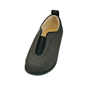介護靴 施設・院内用 センターゴム2 1023 両足 徳武産業 あゆみシリーズ /4L (26.0~26.5cm) 黒 h01