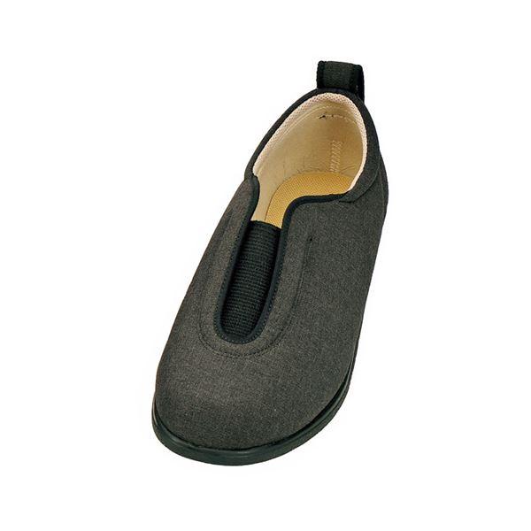 介護靴 施設・院内用 センターゴム2 1023 両足 徳武産業 あゆみシリーズ /4L (26.0~26.5cm) 黒f00