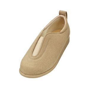 介護靴 施設・院内用 センターゴム2 1023 両足 徳武産業 あゆみシリーズ /3L (25.0~25.5cm) ベージュ h01