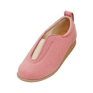 介護靴 施設・院内用 センターゴム2 1023 両足 徳武産業 あゆみシリーズ /LL (24.0~24.5cm) ピンク h01