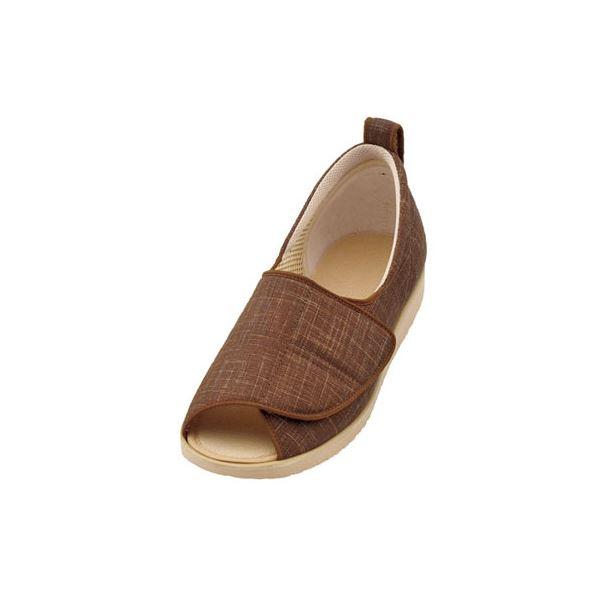 介護靴 施設・院内用 オープン和(なごみ) 1026 両足 徳武産業 あゆみシリーズ /L (23.0~23.5cm) 茶f00