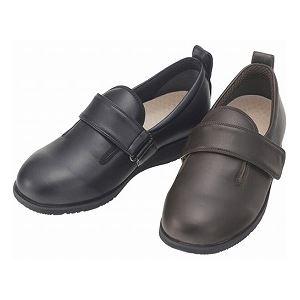 介護靴 外出用 ダブルマジック2 合皮 3E 1310 両足 徳武産業 あゆみシリーズ /LL (24.0~24.5cm) 黒 h01