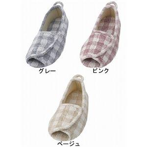 介護靴 室内用 エコオープン 2227 両足 徳武産業 あゆみシリーズ / L ピンク h02