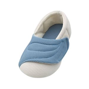 介護靴 室内用 ワイドベルトワッフル 2229 両足 徳武産業 あゆみシリーズ /LL(25.0〜26.0cm) ブルー