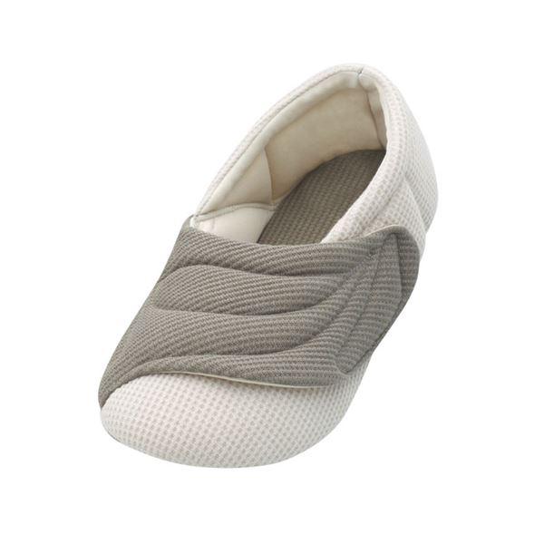 介護靴 室内用 ワイドベルトワッフル 2229 両足 徳武産業 あゆみシリーズ /LL(25.0~26.0cm) グレーf00