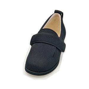 介護靴 施設・院内用 ダブルマジック2 5E(ワイドサイズ) 7005 両足 徳武産業 あゆみシリーズ /L (23.0~23.5cm) ブラック h01