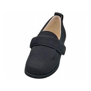介護靴 施設・院内用 ダブルマジック2 5E(ワイドサイズ) 7005 片足 徳武産業 あゆみシリーズ /LL (24.0~24.5cm) ブラック 右足 h01