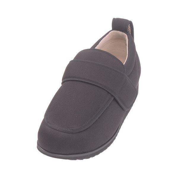 介護靴 外出用 NEWケアフル 5E(ワイドサイズ) 7007 片足 徳武産業 あゆみシリーズ /LL (24.0~24.5cm) 黒 右足f00