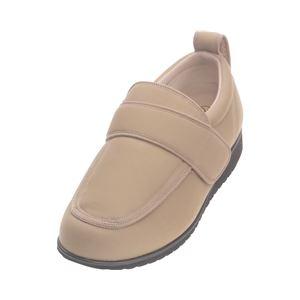 介護靴 外出用 NEWケアフル 7E(ワイドサイズ) 7008 片足 徳武産業 あゆみシリーズ /LL (24.0~24.5cm) ベージュ 右足 h01