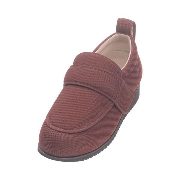 介護靴 外出用 NEWケアフル 7E(ワイドサイズ) 7008 片足 徳武産業 あゆみシリーズ /LL (24.0~24.5cm) ワイン 右足f00