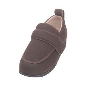 介護靴外出用NEWケアフル7E(ワイドサイズ)7008片足徳武産業あゆみシリーズ/LL(24.0〜24.5cm)茶右足