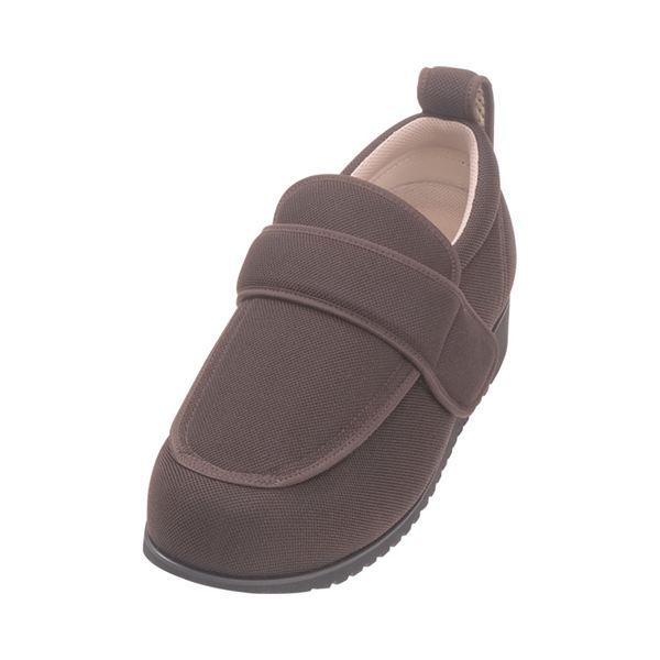 介護靴 外出用 NEWケアフル 7E(ワイドサイズ) 7008 片足 徳武産業 あゆみシリーズ /3L (25.0~25.5cm) 茶 右足f00