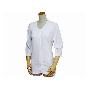 ウエル 紳士用前開き七分袖シャツ(プラスチックホック式) /43211 白 5L h01