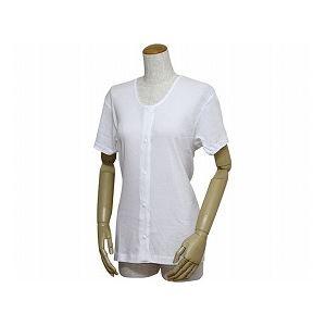 ウエル婦人用前開き三分袖シャツ(プラスチックホック式)/43263白5L
