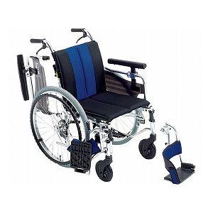 ミキ 自走用セミモジュール車いす MYU4-22 /座幅38cm ブルー(W747)
