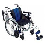 ミキ 自走用セミモジュール車いす MYU4-22 /座幅38cm ブルー(W747)【非課税】