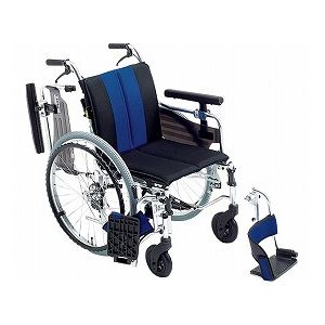 ミキ自走用セミモジュール車いすMYU4-22/座幅40cmレッド(W717)【非課税】