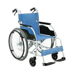 松永製作所アルミ製スタンダード車椅子自走式ECO-201B/前座高43cm座幅40cmE-2【非課税】