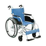 松永製作所 アルミ製スタンダード車椅子 自走式 ECO-201B /前座高43cm 座幅40cm E-2【非課税】