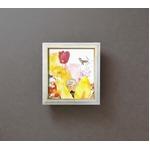 色紙額縁セット/フレーム 【295mm×324mm×21mm】 いわさきちひろ 「かくれんぼ」 壁掛け用 ひも付き 日本製