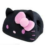 HeLLo Kitty ハローキティ ハンドクッション(安眠クッション) ブラック(黒)