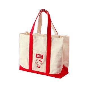HeLLoKittyハローキティエコエコトートバッグ/鞄【レッド/赤】綿使用裏面ノープリント