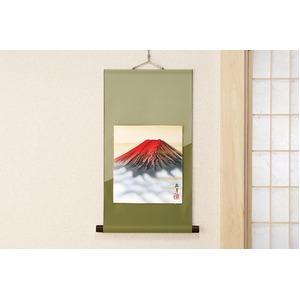 葛谷聖山(梅月)色紙掛 赤富士