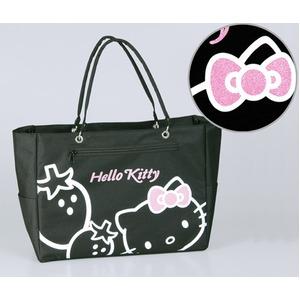 Hello Kittyストロベリートートバック ブラック