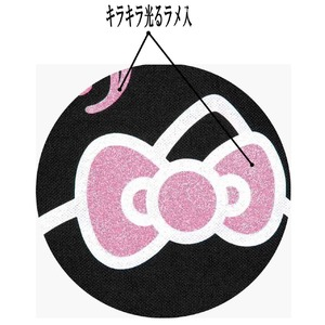 HeLLo Kitty ハローキティ ストロベリートートバッグ/鞄 【マチ・ポケット付き】 ブラック(黒) h03