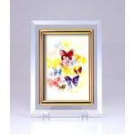 クリスタルフォトフレーム/写真立て 【ハガキサイズ 150×105mm対応】 いわさきちひろ 「蝶と子どもたちの幻想」
