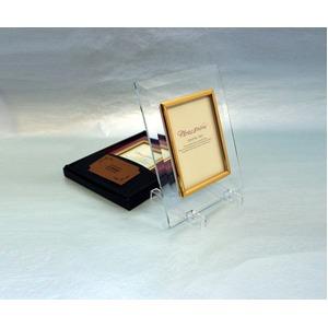 高級クリスタルフォトフレーム/写真立て【L版対応】127mm×89mmウルトラホワイトガラス使用化粧箱入り日本製