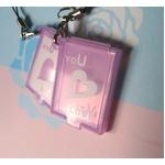 【紫外線対策】恋する乙女のミラー/コンパクトミラー 【2個セット】 UVセンサー/ストラップ付き 日本製の画像