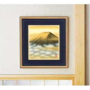 葛谷聖山(梅月)色紙額 「金富士」