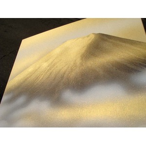 色紙丸額縁 【葛谷聖山 梅月 金富士】 直径447×25mm 入れ替え可 日本製
