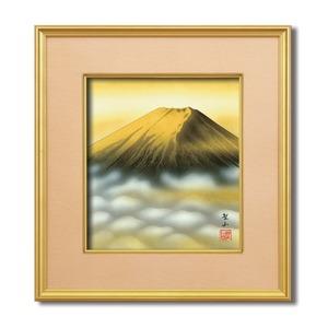 葛谷聖山(梅月)4988色紙額 「金富士」