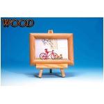 木製フォトフレーム/写真立て 【縦・横兼用タイプ ハガキサイズ対応】 ナチュラル イーゼル付き