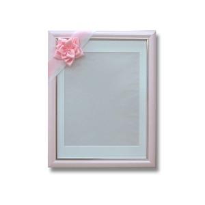 葬儀額/遺影額【さくら】前面:無反射ガラス寸巾パールリボン付き日本製