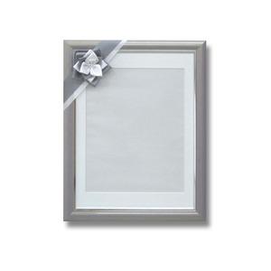 葬儀額/遺影額 【うす墨】 前面:無反射ガラス 寸巾パール リボン付き 日本製