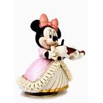 陶製とは思えない!!繊細なレースオルゴール ■ミニー オルゴール(バイオリン弾き)ピンク