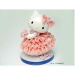 HeLLo Kitty ハローキティ レースドール/陶製人形 【ピンク】 磁器 高さ14×ベース径11cm 日本製