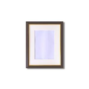 【額縁】マット・壁掛けひも・アクリル付 ■8125水彩額F4号 マット付 (ブラウン)