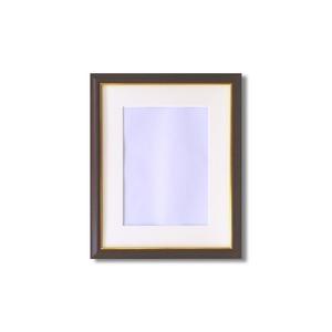 【額縁】マット・壁掛けひも・アクリル付 ■8125水彩額F6号 マット付 (ブラウン)