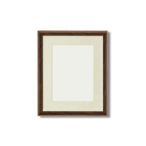 軽量水彩額縁/フレーム【F4号/ブラウン】壁掛けひも/UV(紫外線)カットアクリル/マット付き化粧箱入り8155