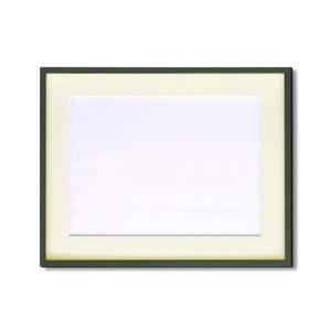 【額縁】マット・壁掛けひも・アクリル付 ■5767水彩額F8号 マット付 (グリーン)