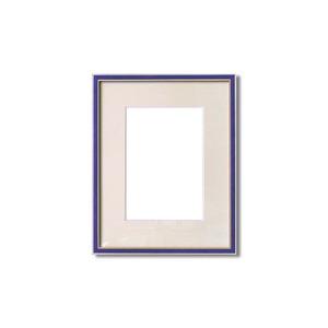 額縁・マット・壁掛けひも・アクリル付 ■7910水彩額F4号 マット付 (ネイビー)