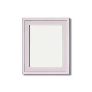 【イタリアン調額縁】マット・壁掛けひも・アクリル付 ■8215水彩額F8号 マット付 (ホワイト)
