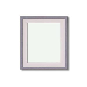 【イタリアン調額縁】マット・壁掛けひも・アクリル付 ■8215水彩額F8号 マット付 (グレー)
